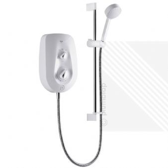 NEW Mira Vie 9.5kW (2014) Electric Shower Kit in White & Chrome (1.1788.005)